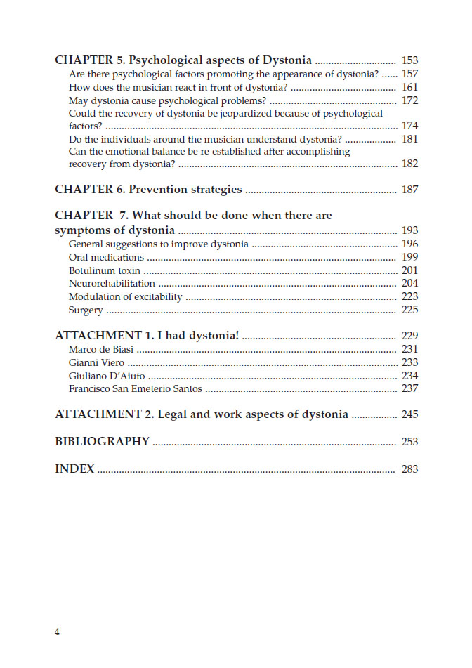 dystonia table 2